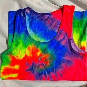 Handmade tie dye tank top